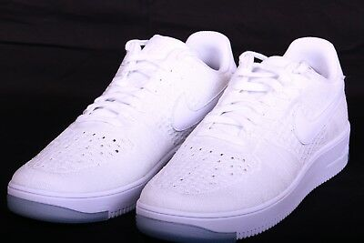 Nike Air Force 1 AF1 Ultra Flyknit Shoes White Mens 817419 100 Size 11.5 a5af28393e