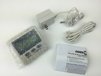Fanstel Caller ID Unit B99SCW-FA 7 Ft. Line Cord AC/DC Adapter w/5 Ft. Cord