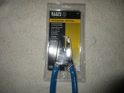Klein Tools 1011 Wire Stripper Cutter Solid and Stranded Wire Blue 6 1/8 Inches