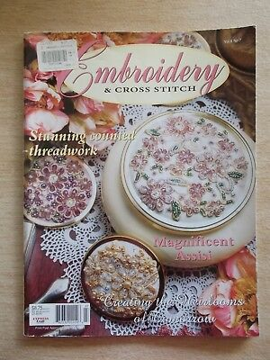 Embroidery & Cross Stitch Vol 6 #7~Assisi~Waratah~Mice~Sampler~Berries~Delft