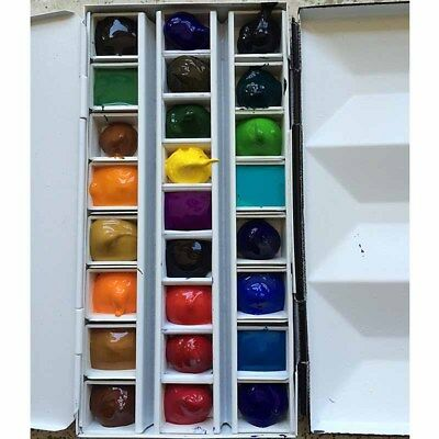10/20/40 Water Color Artist Empty Pan Full or Half Pans For Painting Art Drawing