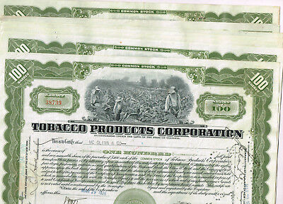 Set 7 Tobacco Products Corp., 1920s, olive, VF+