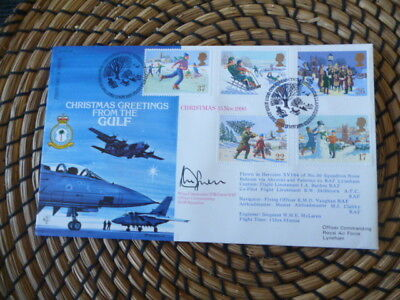 Christmas Greetings From the Gulf  RAF 1990   Signed   fdc