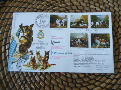RAF 50th Anniversary of the Air Dog   1991   Signed   fdc