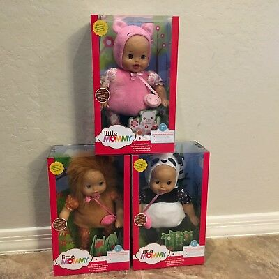 3 NEW Little Mommy Dress Up Cuties Lion Bunny Panda