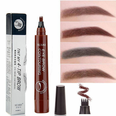 Microblading Eyebrow Tattoo Pen Waterproof Fork Tip Sketch Makeup Ink 4-Head