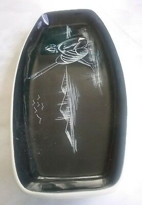 "Diana pottery large sandwich plate ""Warrior"""