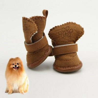 1pair Small Dog Pet Shoes Winter Cat Puppy Anti-slip Protective Poodle Snow Boot