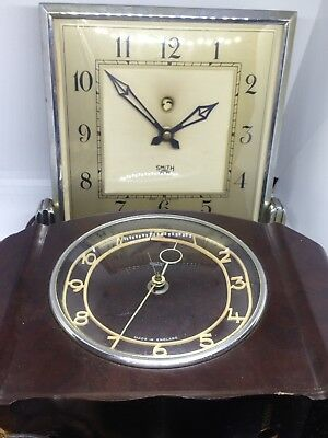 Vintage 1930s SMITHS SECTRIC Electric Clock in Brown Bakelite. A/F. Home/ Prop