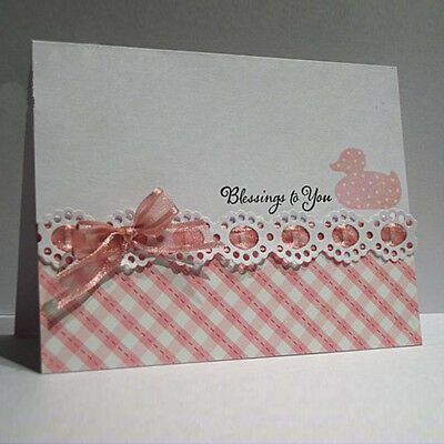 Cover Lace Design Metal Cutting Die For DIY Scrapbooking Album Paper Card new~
