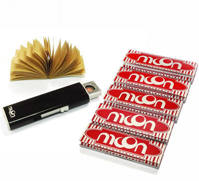 Moon Cigarette Tobacco Rolling Papers 70*36mm 5 Booklets with lighter & Tips