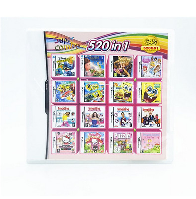 520 in 1 New Multi Game Compliation DS 3DS English Play Now !