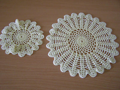 Vintage Collectable Hand Crochet Dressing Table Mats