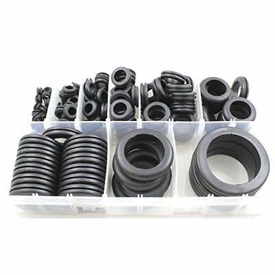 Cable Wiring Rubber Open Grommets Assorted Box - 130 Pieces 6mm - 50mm