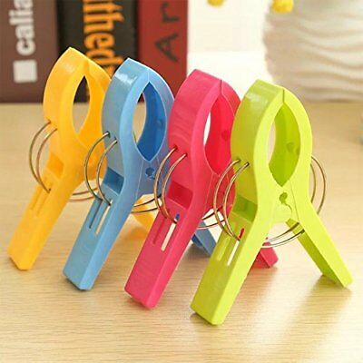 JINGBOSHI 8Pack Fashion Color Beach Towel Clips for Beach Chair or Pool Loungers