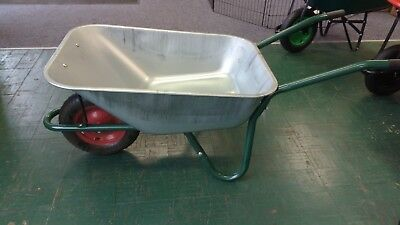 Galvanised Builders Wheelbarrow 100L