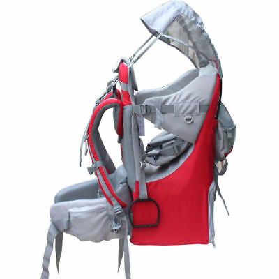 Adjustable Deluxe Baby Carrier Outdoor Light Hiking Child Backpack Camping, Red