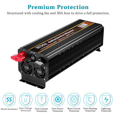 10000W Modified Sine Wave UPS Car Power Inverter 12V To 110V For Camping Outdoor