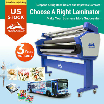 """US Stock! 63"""" Full-auto Roll Cold Laminator Heat Assisted Wide Format Laminator"""