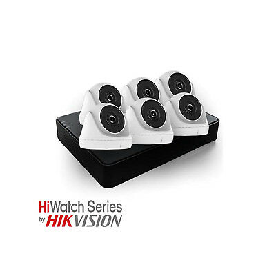 HiWatch 6 Camera Turbo Hybrid CCTV Kit (2MP, HD / HD-CVI / AHD / CVBS)
