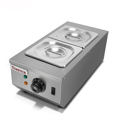 Commercial 2 Tanks Chocolate Melting Pot Electric Hot Chocolate Melter 220V