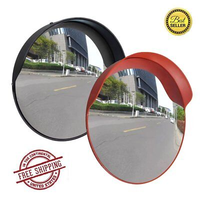 30/45/60 cm Security Convex Traffic Mirror Road Wide Angle Driveway Safety