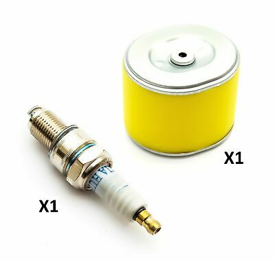 Non Genuine Yellow Air Filter Element + Spark Plug F7TC Fits Honda GX240 GoKarts