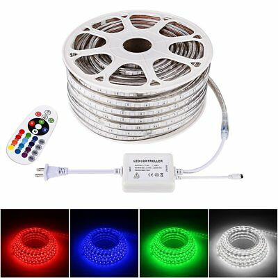 10-50M LED Strip Rope Light RGB Flexible Lamp Waterproof+Remote Home Party Decor