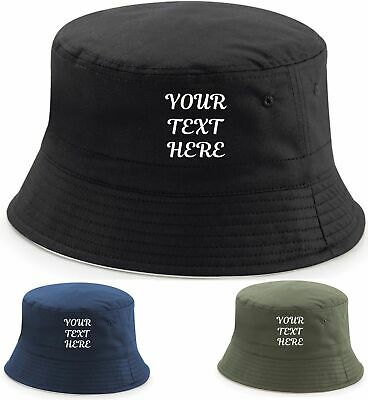 3131545b3 PERSONALISED BUCKET HAT, Music Rave Dj Dance Festival Fishing Stag Do Party  Cap