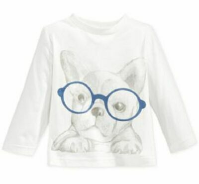 First Impressions Baby Boys' Long-Sleeve Dog-In-Glasses T-Shirt,Size 3-6 Months