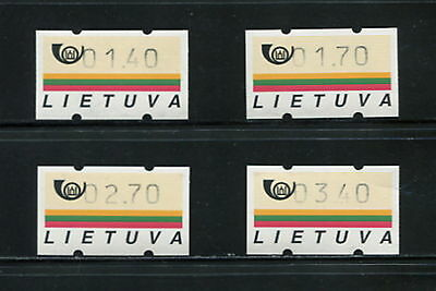 Lithuania  1990  automatic machine stamps   4v.   MNH  F801