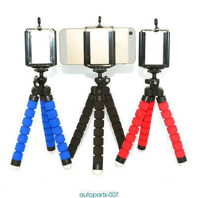 Mini Tripod Flexible Octopus Holder Stand Spong Clip For iPhone HTC Samsung CDD
