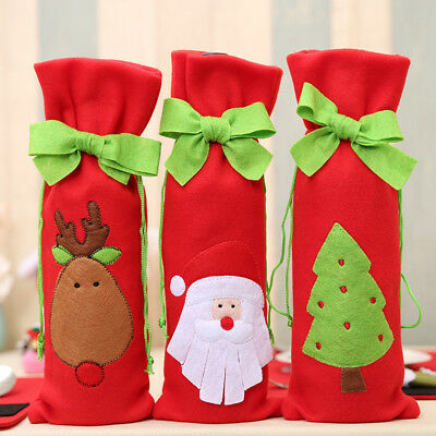 Wine Bottle Cover Bag Christmas Home Supplies Happy New Year Table Decoration