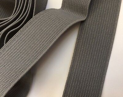 Grey Elastic 30 mm Wide 5 & 10 Metre Roll