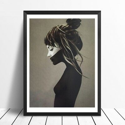 Modern Girl Canvas Painting Picture Woman Art Print Home Wall Decor Unframed