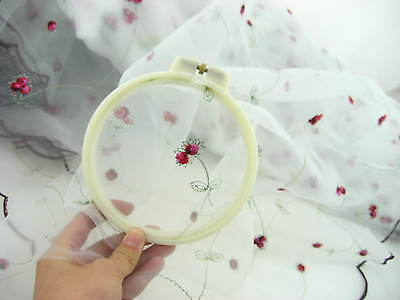 6pcs Adjustable plastic round Embroidery Tapestry hoops frame Cross Stitch Frame