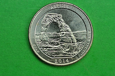 2014-D   BU Mint State  ( Arches )  US National Park Quarter