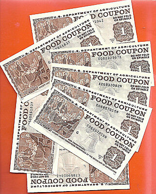 FOOD STAMP COUPON ONE $1. 2000 1994 1995 1996 Uncirculated WITH MINOR PROBLEMS
