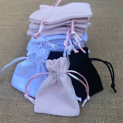 Thick Soft High Quality Velvet Jewellery Gift Bags Drawstring Pouches Wholesale