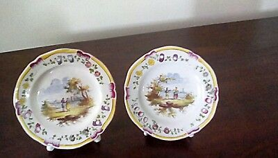 veuve perrin pair handpainted place setting card holders 18th century