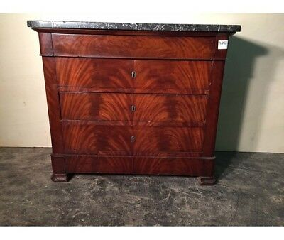 Antique Dresser in Mahogany Feather from Piedmont (small size) - Restored