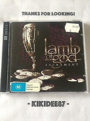 Lamb Of God Sacrament CD/DVD **AS NEW CONDITION**