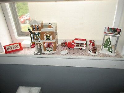 Dept. 56, Coca-Cola Drugstore, Delivery Truck, Men, Billboard, Neon Sign, LOOK!