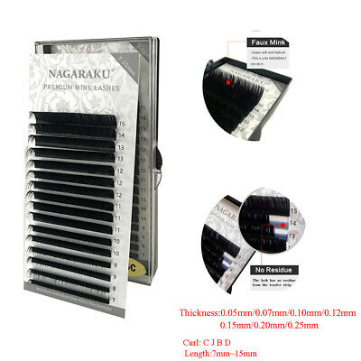 NAGARAKU Mink Faux Individual Eyelash Extension Semi Permanent False Eyelashes--