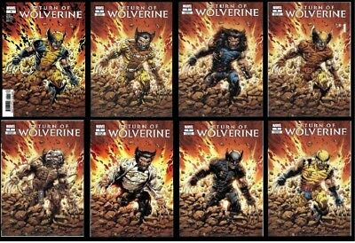 Return Of Wolverine #1 Pre-Order 8 Variant Cover Set X-Force, Aoa Weapon X 2018