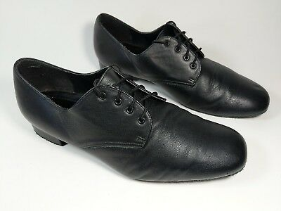 Freed Of London Mens Black Leather Dance Shoes Uk 8