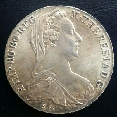 Österreich Maria Theresia Thaler   1780 S.f. Silber