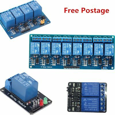 5V 1/2/4/8 Channel Relay Module With Optocoupler For Arduino PIC AVR DSP ARM UR