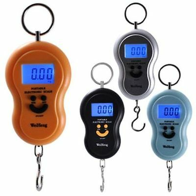 Digital LCD Portable Electronic Hook  Hanging Luggage Weight SCALE 10g to 50Kg