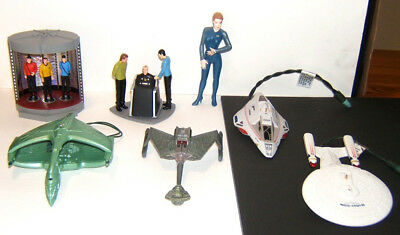 Hallmark Star Trek ornaments, Klingon, Romulan, transporter, Enterprise